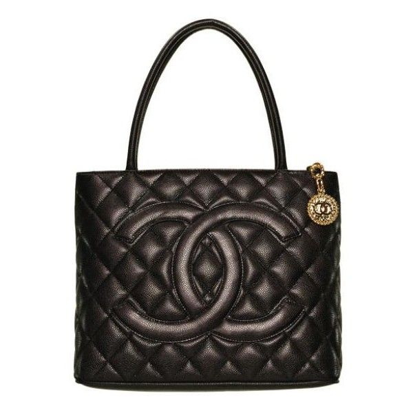 Chanel Quilted Large Shopper Handbag found on Polyvore