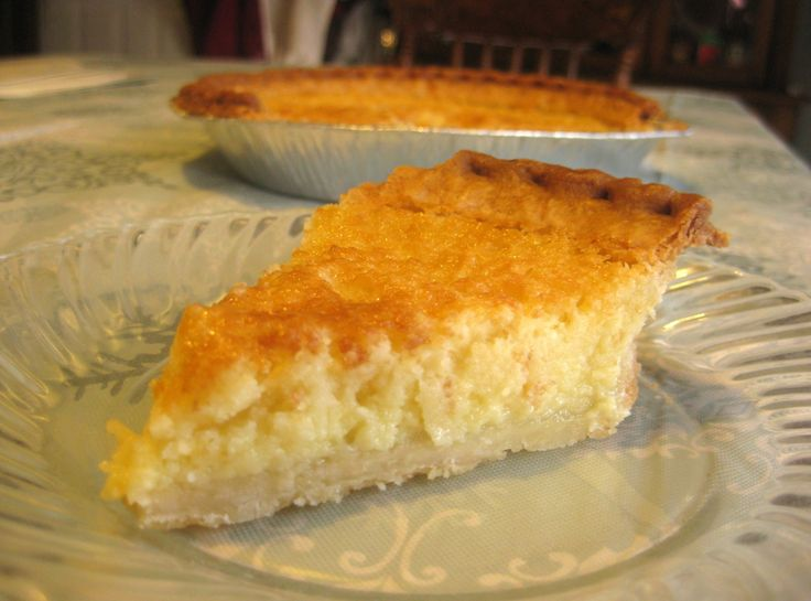Mama's Buttermilk Pie I don't know about you, I don't like butter...