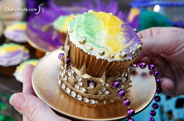 King cake cupcakes – a Mardi Gras tradition – CherylStyle