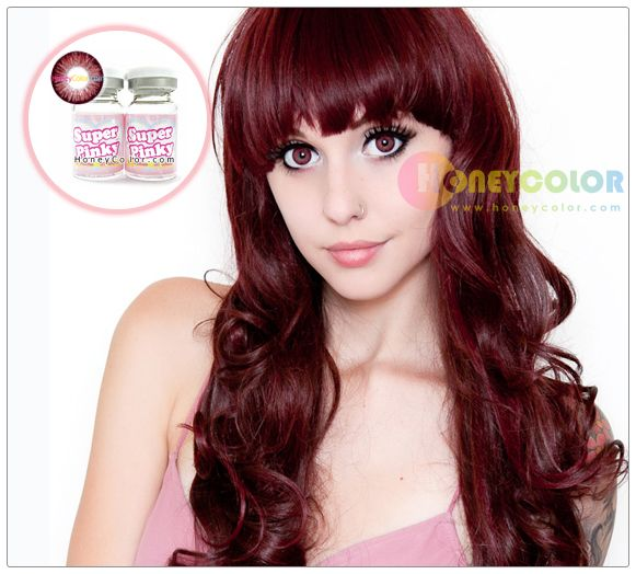 Super Pinky Wine Red Color Contact Lens Circle Contact ...