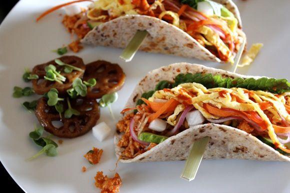 korean veggie tacos | Mains | Pinterest