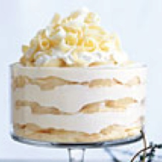 White chocolate trifle with spiced pears   Recipes   Pinterest