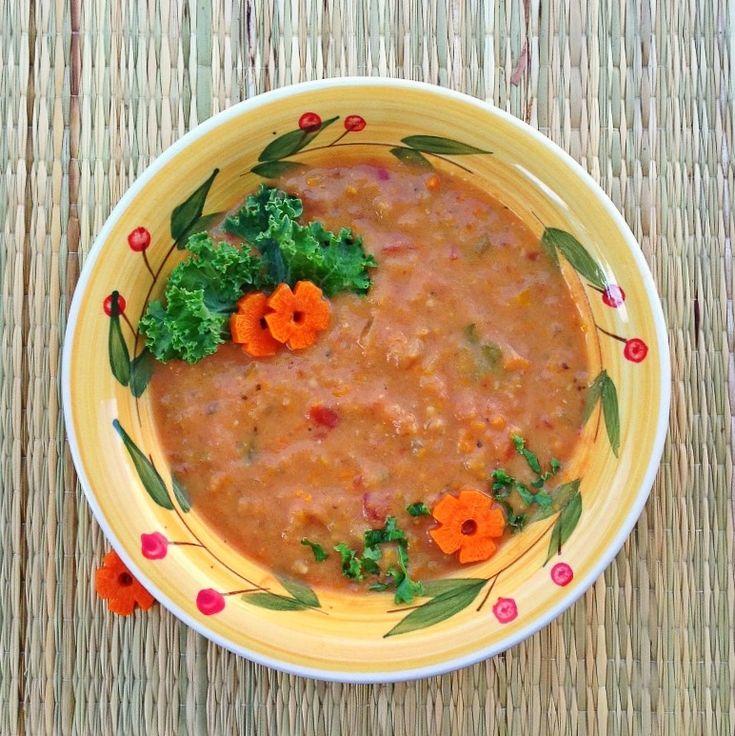 Slow Cooker Vegan Tomato-Basil Soup | Daniel Fast | Pinterest
