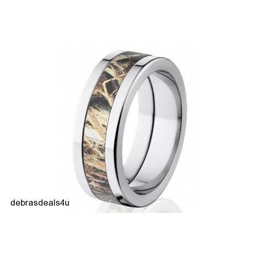 camouflage wedding band titanium ring duck blind camo