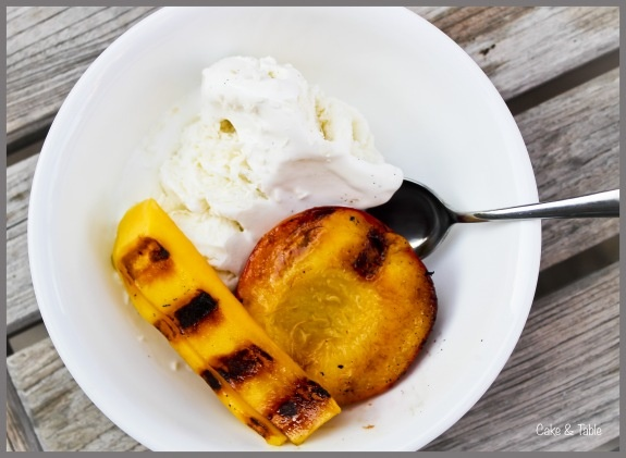 Grilled Peaches, Poached Cherries And Vanilla Bean Ice ...