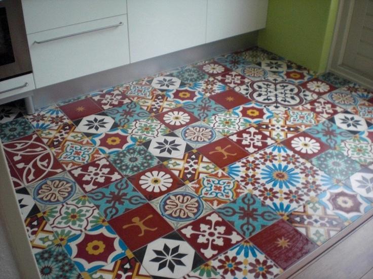 Cementtegels Keuken : Patchwork cementtegels in de keuken Tegel I love Pinterest