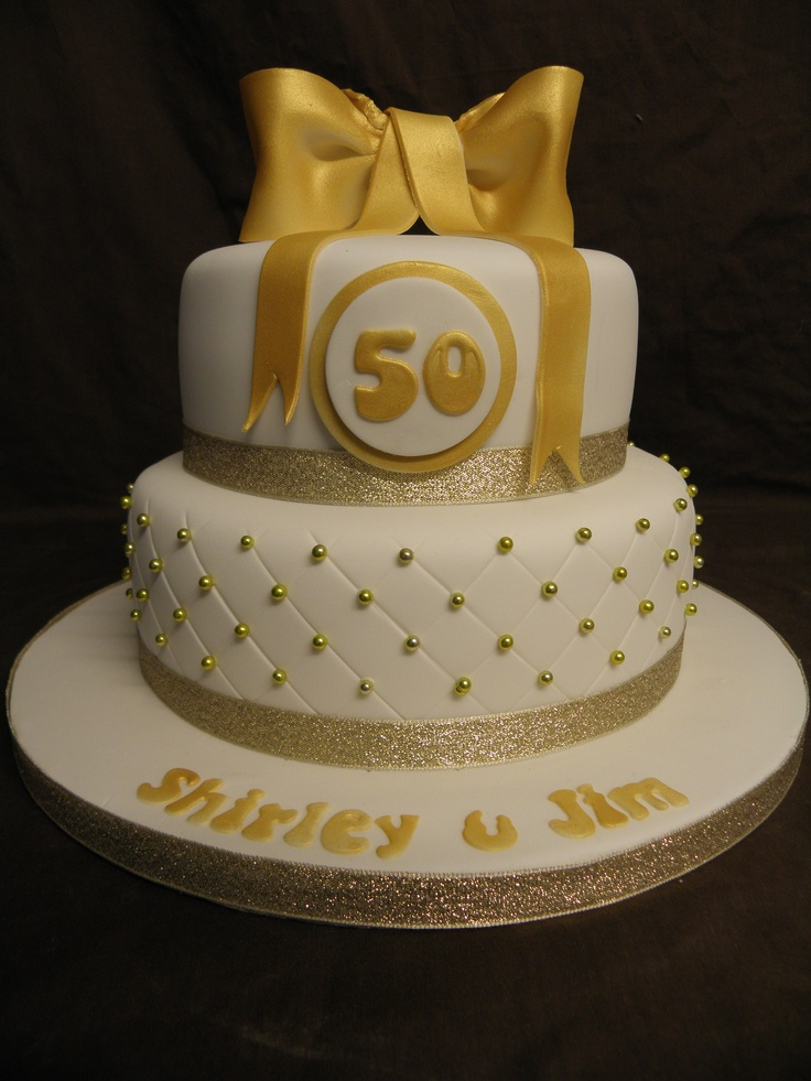 Golden wedding anniversary cake A Golden Weding Cakes ...