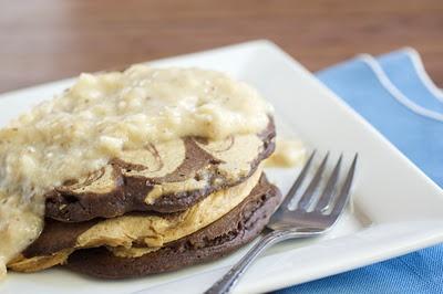 Peanut Butter Chocolate Swirl Pancakes, yes.