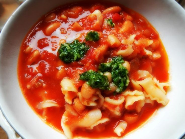 Slow Cooker Bean and Pasta Soup | My Cakes and Bakes (actually it's a ...
