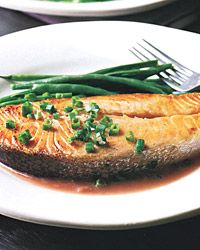Salmon with Red-Wine Sauce Recipe from Food & Wine