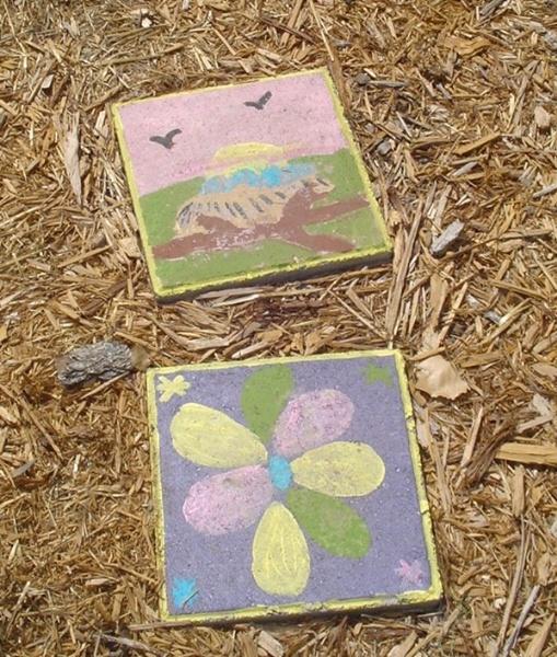 Hand painted garden stepping stones de pinterest - Hand painted garden stones ...