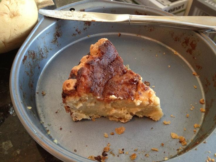 Last piece of holiday egg nog pie from allrecipes (http://m.allrecipes ...