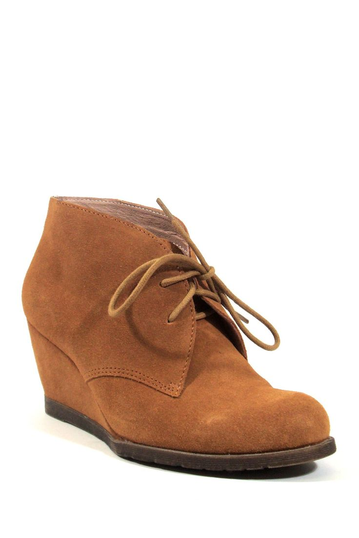lace up wedge ankle boot fashion