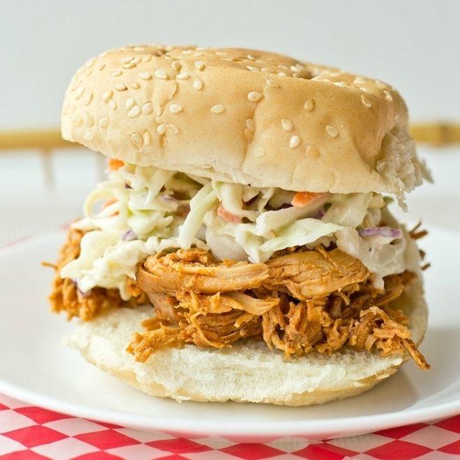 Shredded Barbecue Chicken Sandwiches | Food | Pinterest