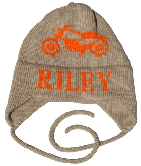 Motorcycle hat for Henry.