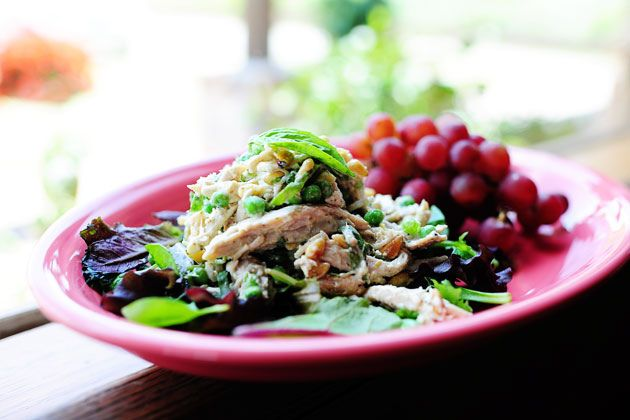 Lemon Basil Chicken Salad - I thought it was out of this world. Served ...
