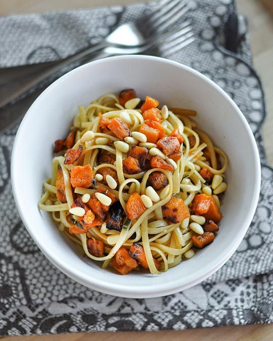 Fettuccine with Roasted Butternut Squash, Brown Butter & Sage   Recipe