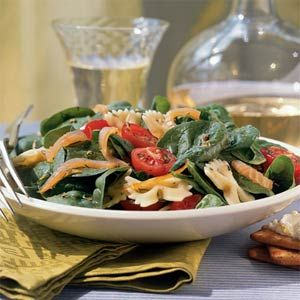 Summer Farfalle Salad with Smoked Salmon from Cooking Light