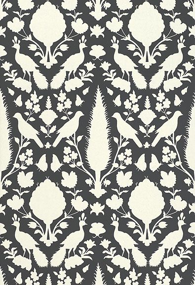 Wallcovering / Wallpaper | Chenonceau in Charcoal | Schumacher