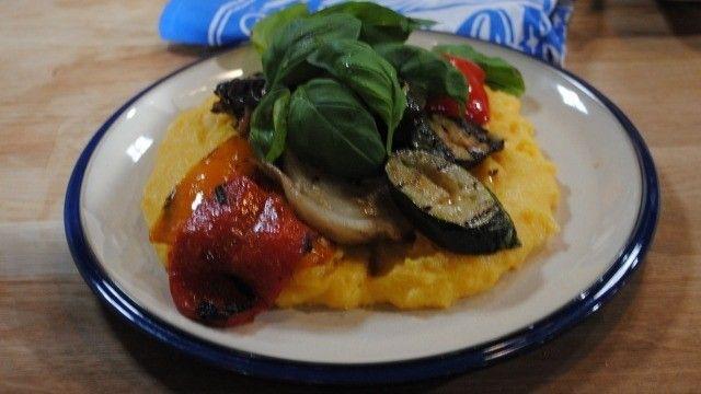 Italian polenta and sausage stew