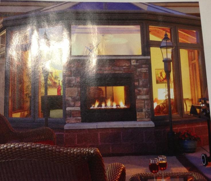 Indoor Outdoor Fireplace Dream Home Pinterest