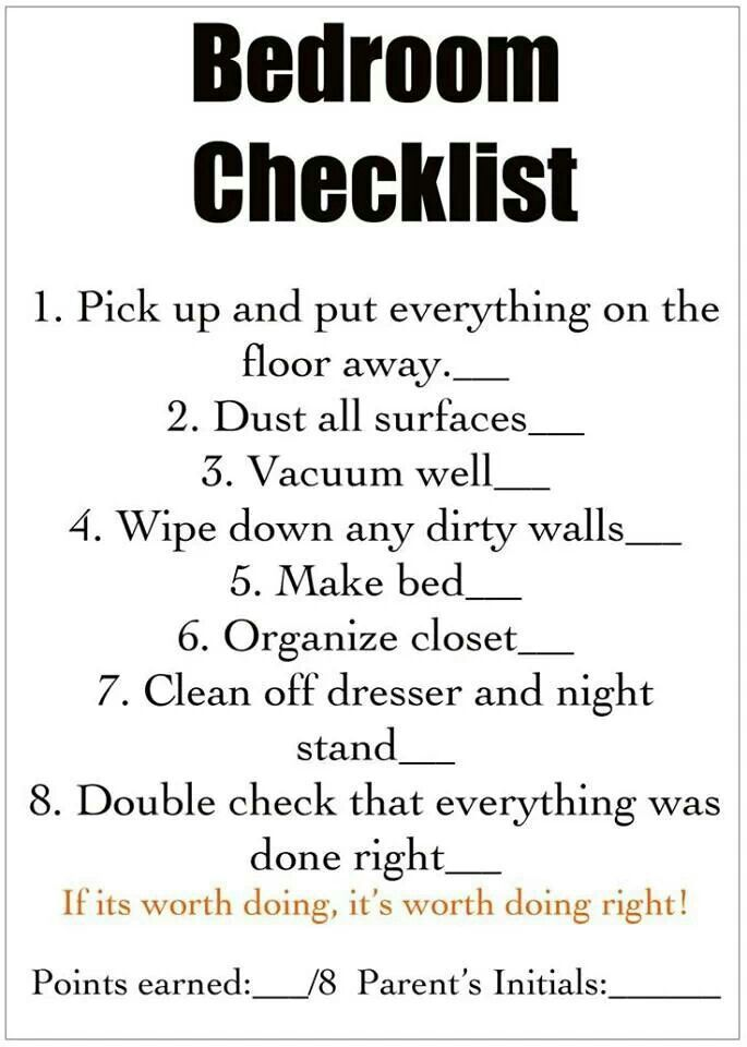 bedroom cleaning check list kid s room pinterest 25 best ideas about bedroom cleaning on pinterest