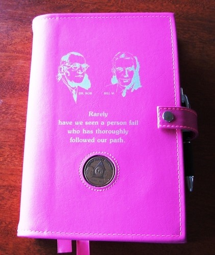 ... Big Book and 12 &12 Pink Founders Deluxe LARGE PRINT Cover | eBay
