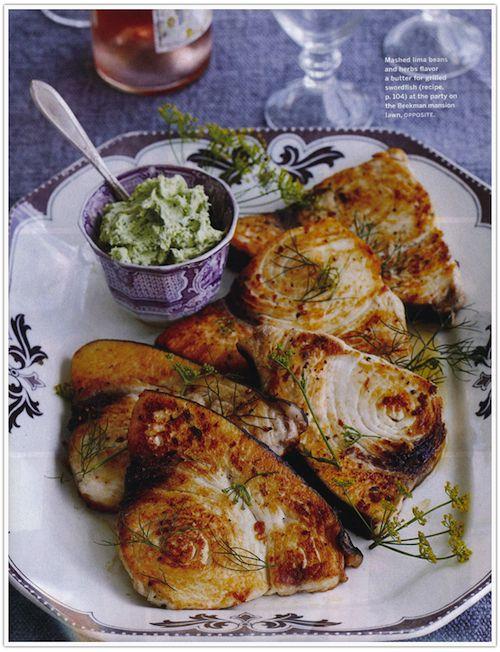 Grilled swordfish with herbed butter http://healthyrecipesfitness.com ...
