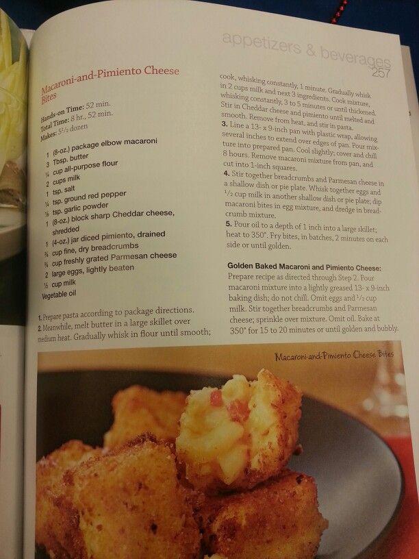 Macaroni and pimiento cheese bites | Recipes | Pinterest