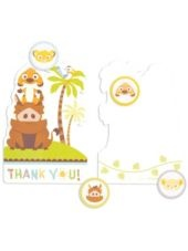 Lion King Baby Shower Thank You Notes - Party City
