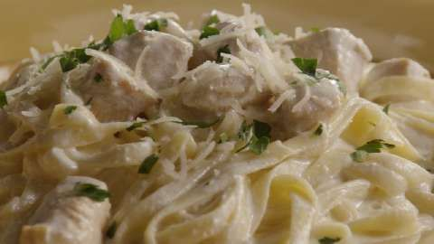 Chicken Alfredo with Fettuccini Noodles Allrecipes.com I like this one ...