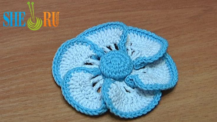 Crochet Flower Tutorial Sheru : Pin by Mary Jonguitud on flowers Pinterest