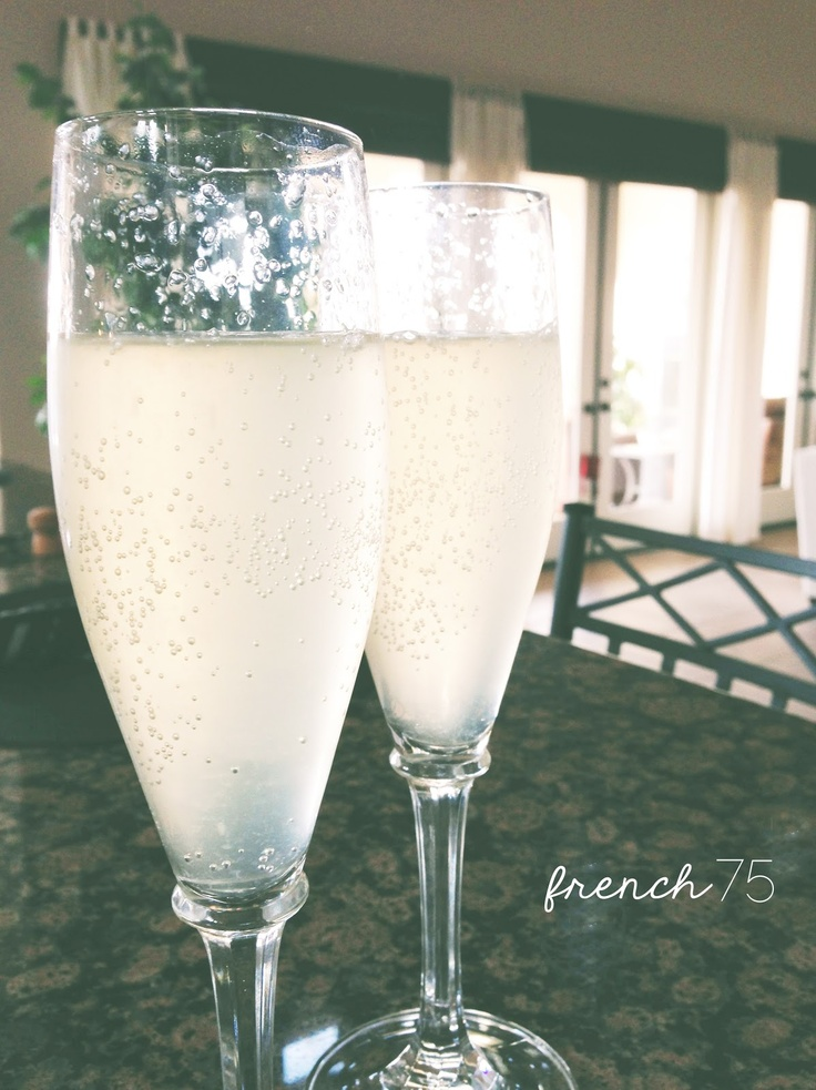 French 75 - champagne & gin | Cocktails & Mocktails | Pinterest