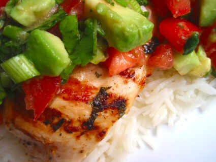 Cilantro chicken with avocado salsa | recipes | Pinterest