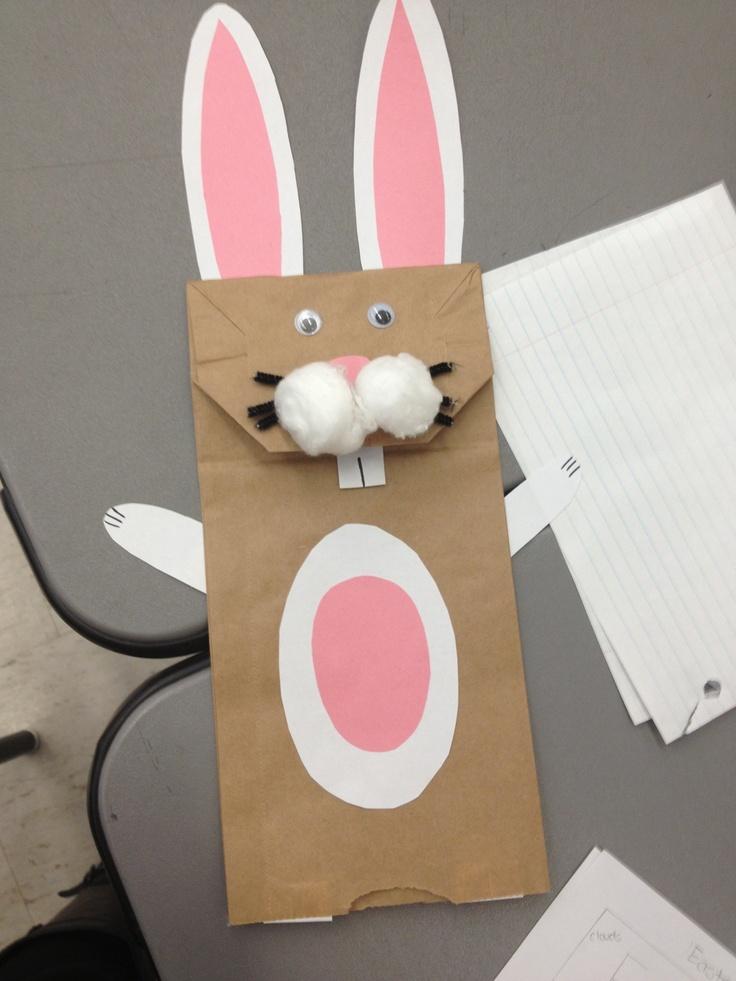 Easter rabbit craft for little kids teaching ideas for Crafts for little kids