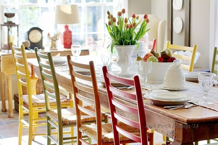 Colorful Dining Chairs Decor Pinterest