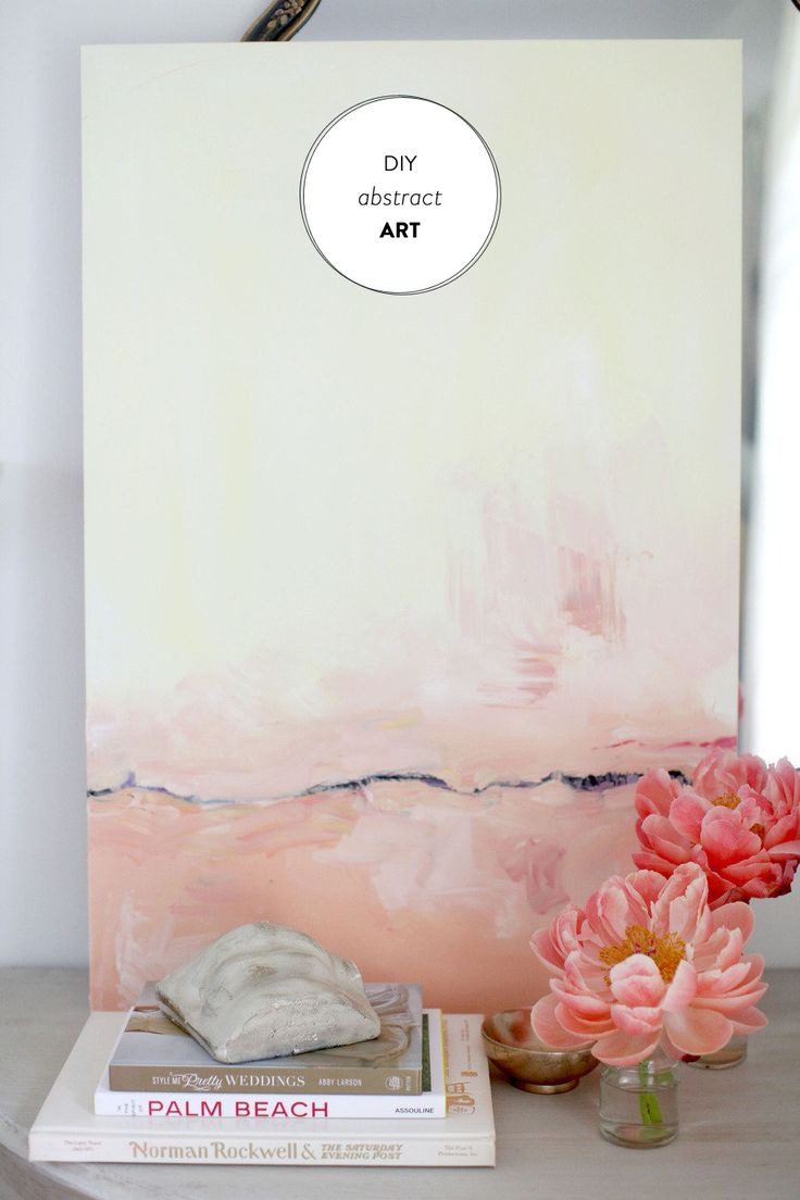 DIY Abstract Art | SMP Living, Read more - http://www.stylemepretty.com/living/2013/06/17/diy-abstract-art/