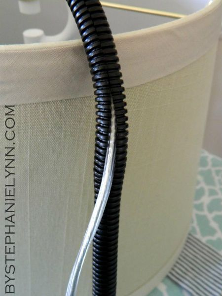 how to make a no sew tailored fabric cord cover for lights and lamps. Black Bedroom Furniture Sets. Home Design Ideas