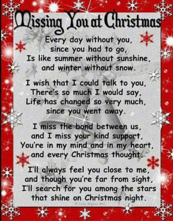 Christmas missing a loved one