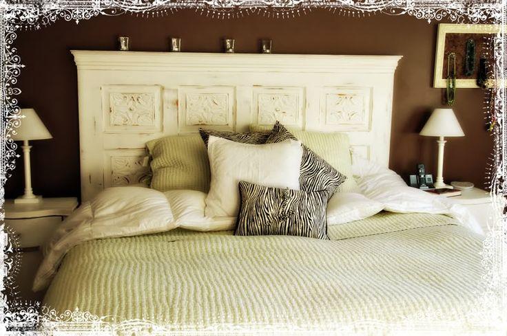 Door Headboard Master Bedroom Pinterest