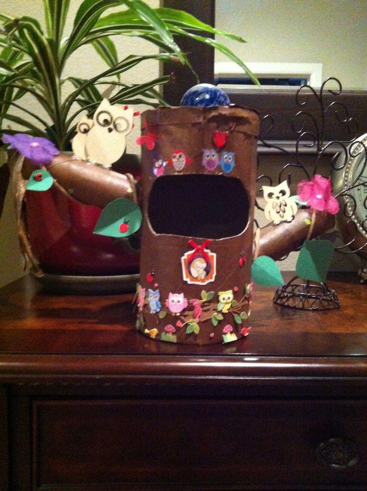 Owl valentines box I made!!!