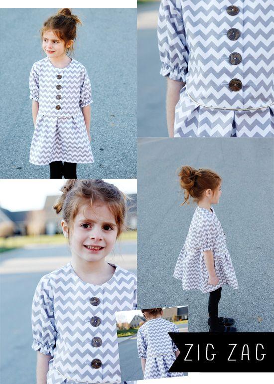 Zig zag dress pattern