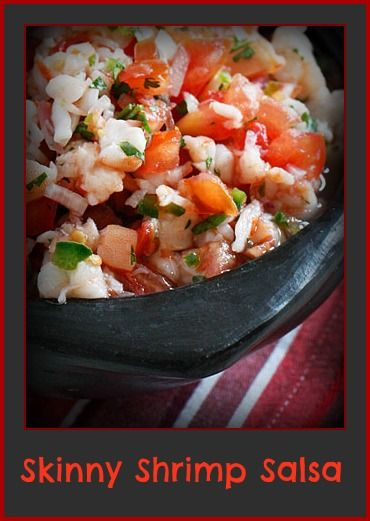 Skinny Shrimp Salsa | what to bring to a party | Pinterest