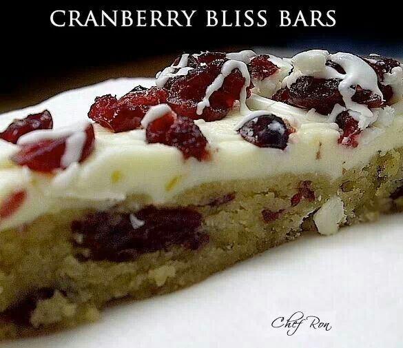 Cranberry bliss bars | Desserts | Pinterest