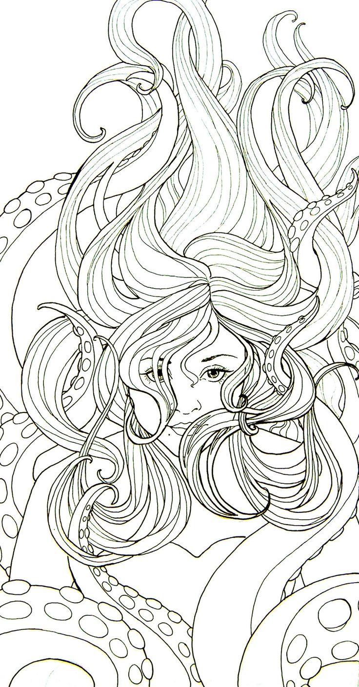 Раскраски для взрослых девочек - 10