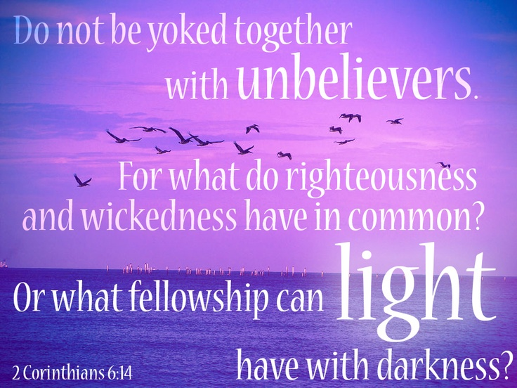 Verses about dating unbelievers
