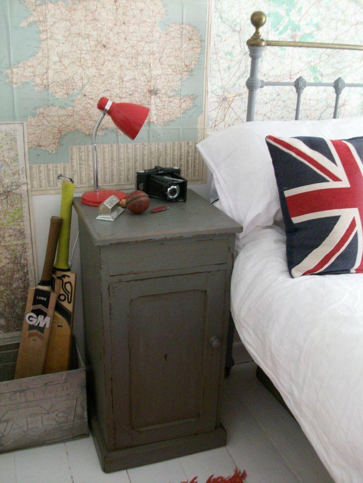 Boy's vintage bedroom. www.lavenderhousevintage.co.uk