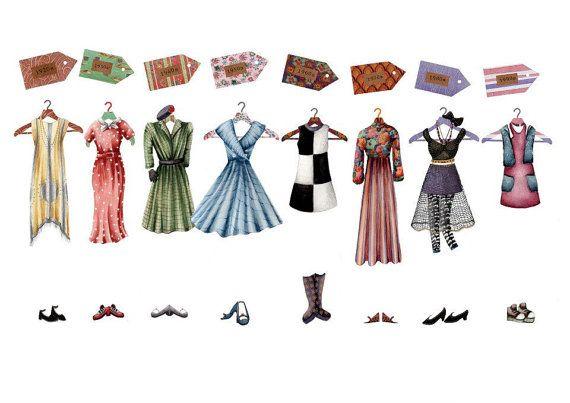 Fashion illustration celebrating style through the decades by laura b