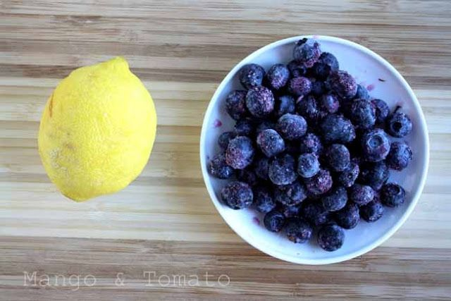 Mango & Tomato: Blueberry & coconut scones with lemon zest