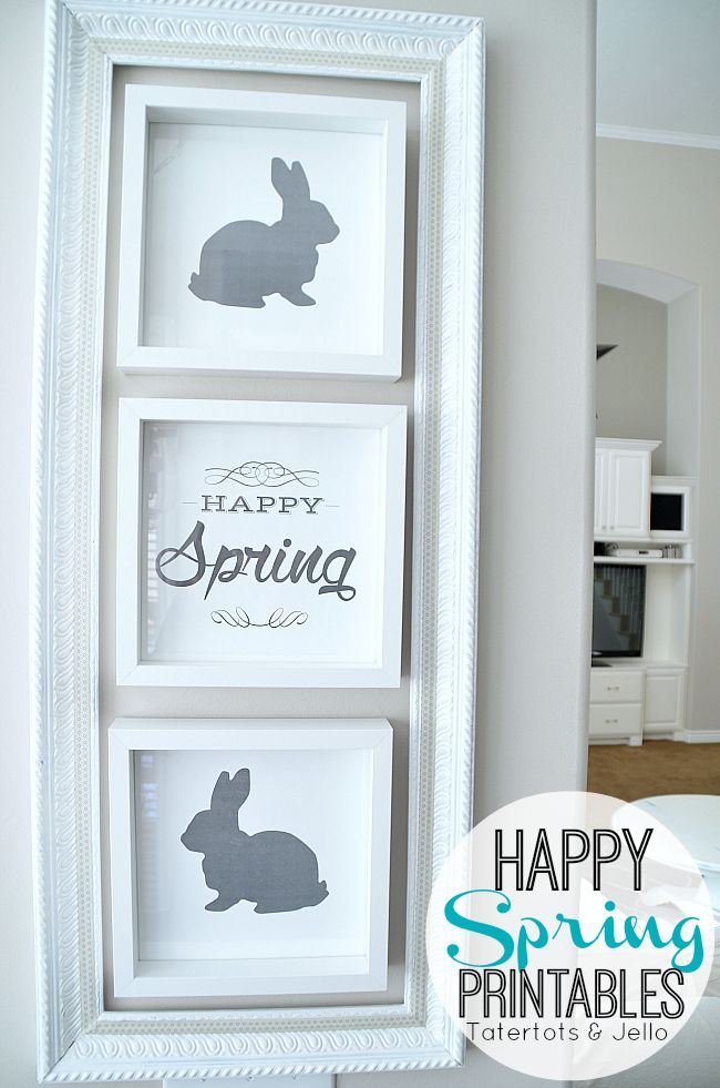 Happy Spring Easter Printables at Tatertots and Jello -- #DIY #Spring